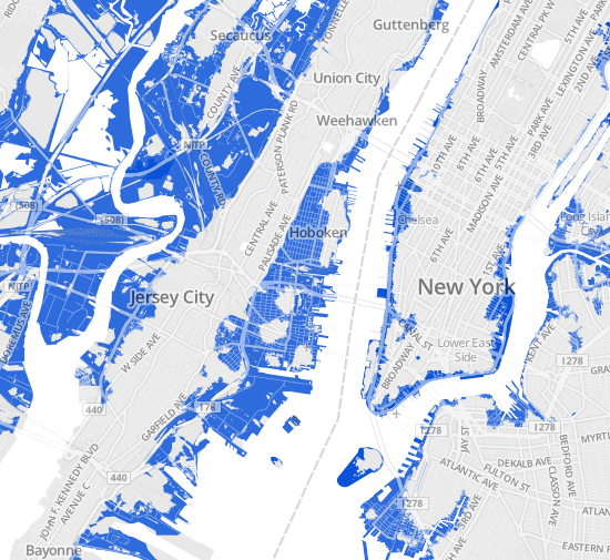 Year Flood Zones WNYC - Flood line map
