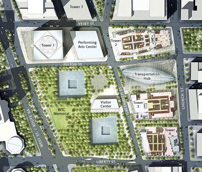 Construction Site Map: WNYC World Trade Center Construction