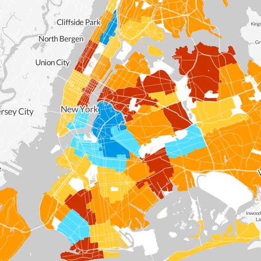 median income nyc neighborhoods wnyc
